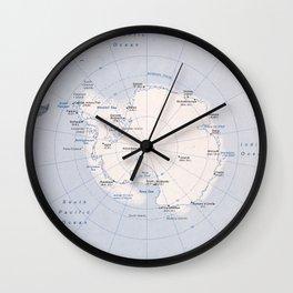 Map of the Antarctic Region (1982) Wall Clock