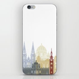 Zagreb skyline poster iPhone Skin