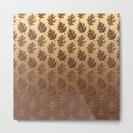 Fall Leaves Pattern by Xen™ Metal Print