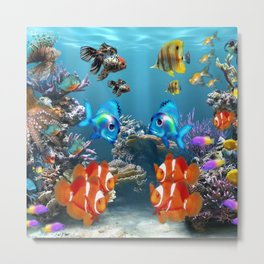 Aquarium Sealife Fish Metal Print