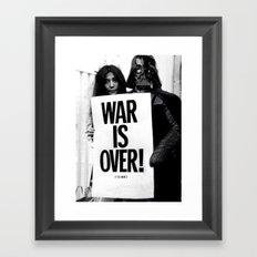Darth Vader with Yoko Ono Framed Art Print
