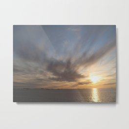 Norwegian Sunset Metal Print