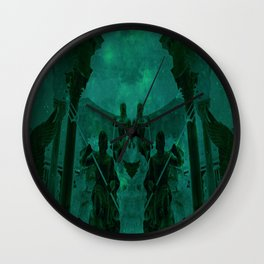Fight Among the Gods Wall Clock