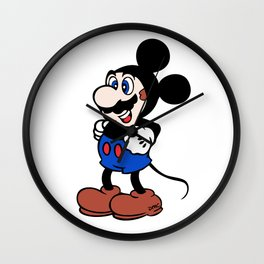 Super Mickey Brother Wall Clock