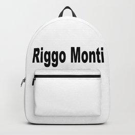 Riggo Monti Design #5 - Riggo Monti (Simple Text) Backpack