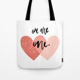 Soul mates hearts Tote Bag