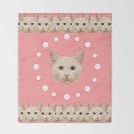 Pink Haruka by ilya konyukhov (c) Throw Blanket
