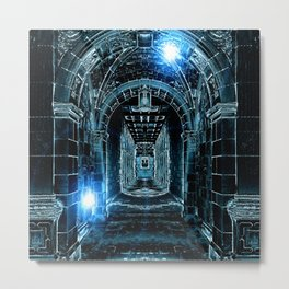 Abstract Gothic Architecture Metal Print