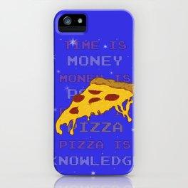 PizzaIsKnowledge iPhone Case