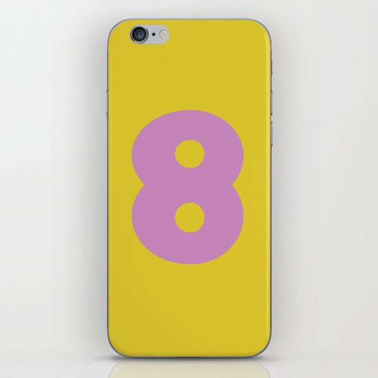 Number 8 iPhone & iPod Skin