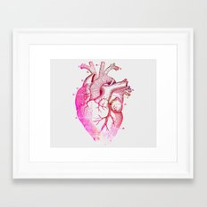Anatomy Of The Heart Framed Art Print