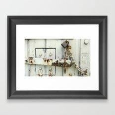 Old Jail Latch Framed Art Print