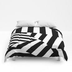 RADAR/ASDIC Black and White Graphic Dazzle Camouflage Comforters