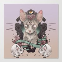 sphynx Canvas Prints featuring Sphynx by AlchemyArt