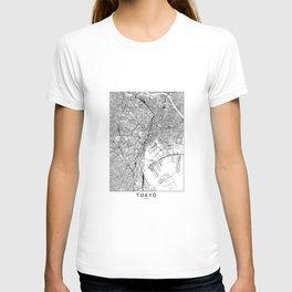 Tokyo White Map T-shirt