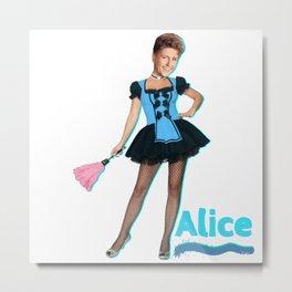 The Brady Bunch- Sexy Alice Metal Print