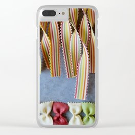 Bows and Stripes V Clear iPhone Case