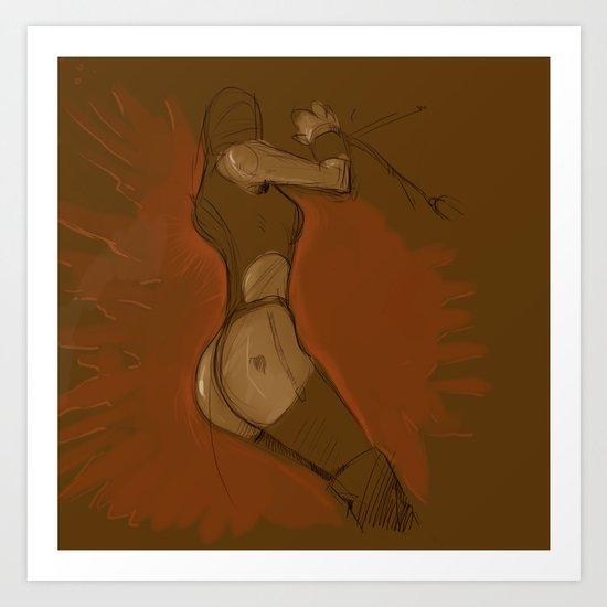 linked girl Art Print