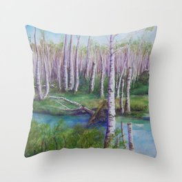 Crossing the Swamp WC151101-12 Throw Pillow