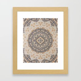 Bohemian Oriental Moroccan Mandala Style  Framed Art Print