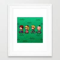 earthbound Framed Art Prints featuring Earthbound Guys by likelikes