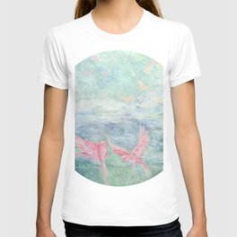 In the Pyrenees, arylic birds T-shirt