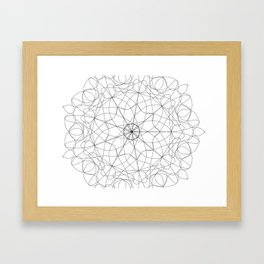 mandala art - floral Framed Art Print