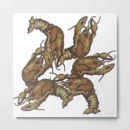 Pattern of crayfish Metal Print