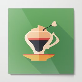 Cup of Latte Metal Print