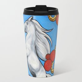 'HORSESHOES' - Ruth Priest Travel Mug