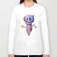 robot Long Sleeve T-shirts featuring Robot by Ciotti