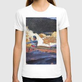 Winslow Homer1 - Shooting The Rapids, Saguenay River - Digital Remastered Edition T-shirt