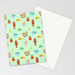 Nutcracker, rocking horse, angel and bird Christmas pattern Stationery Cards
