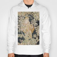 mucha Hoodies featuring 1898 - 1900 Femme a Marguerite by Alphonse Mucha by BookCollecting101