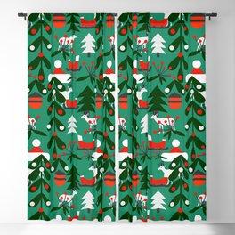 Christmas evergreens Blackout Curtain