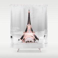 pariS Black & White + Pink Shower Curtain