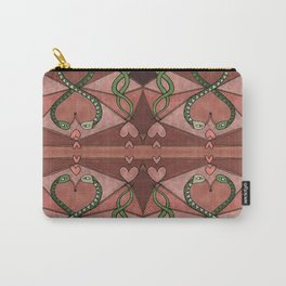 WOVEN SNAKE HEARTS II Carry-All Pouch
