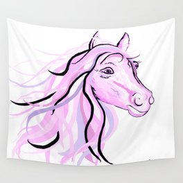 Pretty Pink Pony Wall Tapestry
