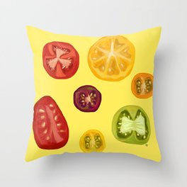 Summer Tomatoes Throw Pillow