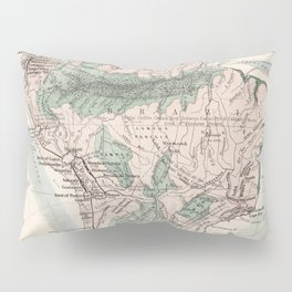 Vintage Map of South America (1858) Pillow Sham