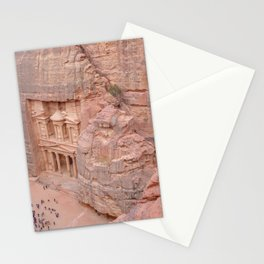 View Over the Treasury, Petra, Jordan Stationery Cards