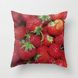 Strawberry Season Throw Pillow
