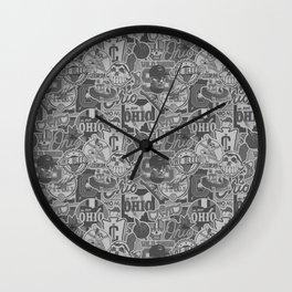 Cleveland Sticker Wall Wall Clock