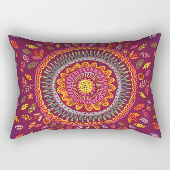 Leafy Fall Mandala Rectangular Pillow