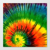 hippie Canvas Prints featuring HIPPIE by Maioriz Home