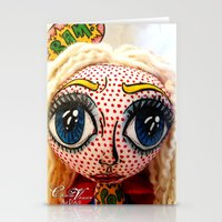 supergirl Stationery Cards featuring Supergirl by Chiara Venice Art Dolls