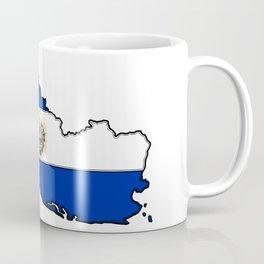 El Salvador Map with Salvadoran Flag Coffee Mug