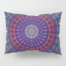 Blue Mandala Hippie Design Pillow Sham