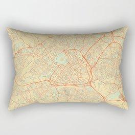 Lille Map Retro Rectangular Pillow