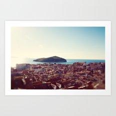 View over Dubrovnik Croatia Art Print